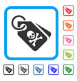 death tags framed icon vector image vector image