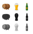 design of pub and bar icon collection of vector image vector image