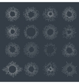 designers collection sunburst vector image vector image