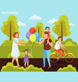 family outdoor orthogonal composition vector image