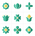 Flat icon Flower Icons Set Design vector image