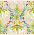 floral seamless pattern in art nouveau vector image vector image