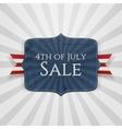 fourth july sale realistic badge vector image vector image
