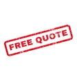 Free Quote Rubber Stamp vector image vector image