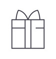 gift box line icon sign on vector image vector image