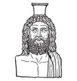 greek vase of serapis is an egyptian god in vector image vector image