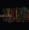 ground zero the inward significance text vector image vector image