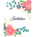 hand drawn tropical plant pink rose grape vector image vector image