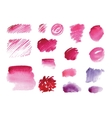 Handmade watercolor texture collection of pink vector image vector image
