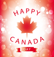 Happy Canada Day greeting card vector image vector image