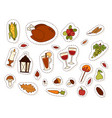 happy thanksgiving day design holiday objects vector image vector image