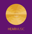hear music logo poster vector image