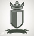 Heraldic royal blazon - imperial striped vector image vector image
