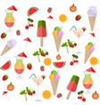 icecream and cocktail set background vector image vector image