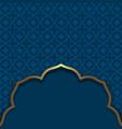 islamic style dark blue background arabic vector image