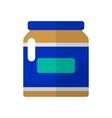 Jar flat icon vector image