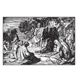 john baptist preaches in wilderness vector image vector image