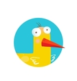 Kids Duck Funny Icon vector image
