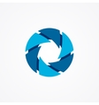 logo serrations arranged in a circle brutal vector image vector image