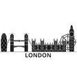 london architecture city skyline travel vector image vector image