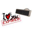 Love expired stamp vector image vector image