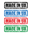 made in uk stamp3 vector image vector image
