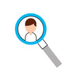 magnifying glass with businessman avatar vector image vector image