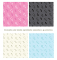 male female symbols seamless pattern vector image