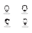 masculine beard black hair geek logo and symbol vector image vector image