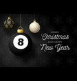merry christmas and happy new year luxury sports vector image vector image