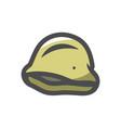 military steel helmet icon cartoon vector image