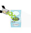 money laundering cartoon art vector image vector image