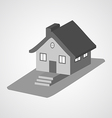 Monochrome 3d house cartoon icons isolated vector image
