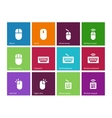 Mouse and num lock icons on color background vector image vector image
