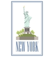New-York Isolated statue of liberty on white vector image