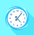 numbered clock icon flat style vector image vector image