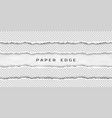 paper tear border set torn horizontal seamless vector image vector image