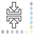 pressure vertical icon vector image vector image