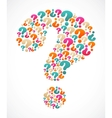 question mark speech bubble vector image vector image