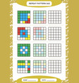repeat colorful pattern cube grid with squares vector image