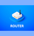 router isometric icon isolated on color vector image vector image