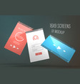 screens ui mockups vector image
