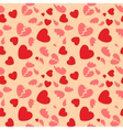 seamless pattern with hearts and broken hearts vector image