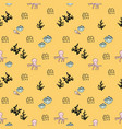 seamless sea pattern decorative background with vector image vector image
