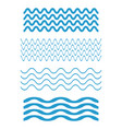 set wave icons water waves on white background vector image vector image