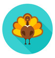 thanksgiving turkey circle icon vector image