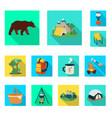 trekking and wildlife logo vector image