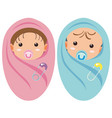 two infants boy and girl vector image