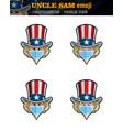 uncle sam emoji - expression set - surgical mask vector image