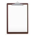 wood clipboard vector image